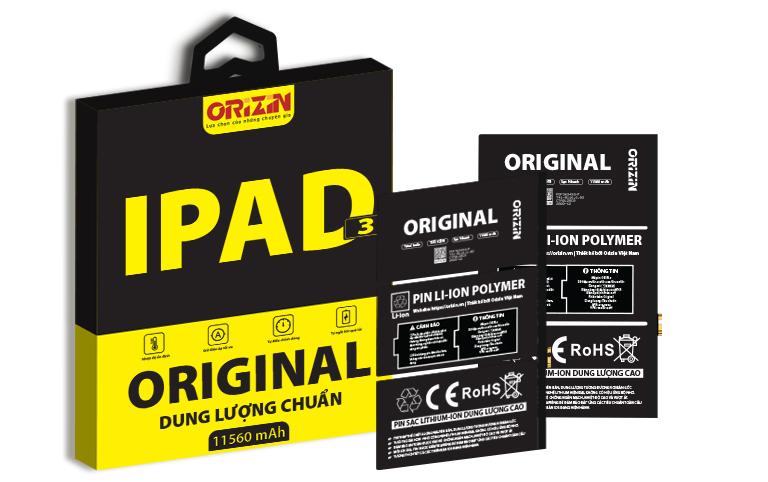 Pin Ipad 3-4 | Pin Ipad 3-4 Giá Sỉ
