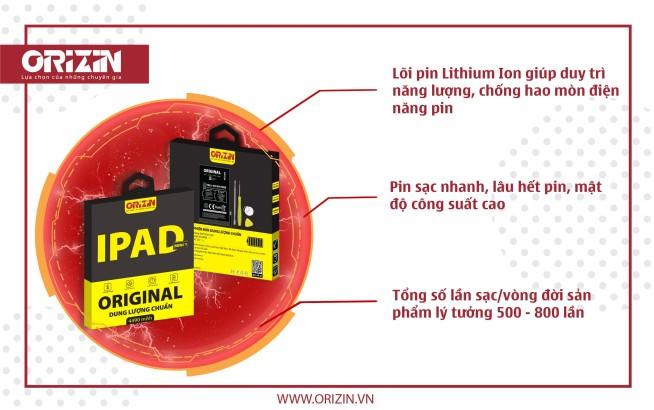 Pin Ipad Mini 1 dung lượng cao chính hãng Orizin Maximum BIPAM1