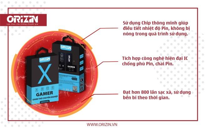 Dung lượng Pin Dung Lượng Cao Iphone X Cho Game Thủ giá sỉ Hà Nội.